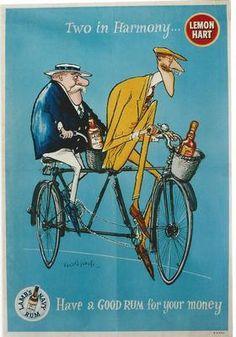 Lemon Hart rum poster, Ronald Searle, 1956