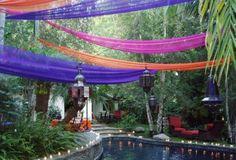 Gardinen Gartendeko-Ideen bunt