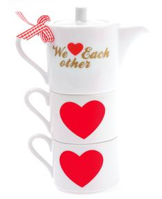 """""""We Love Each Other"""" Stackable Teapot"""