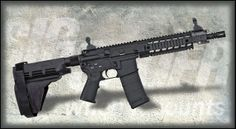 """Sig Sauer Platform P-516 AR-15/M16 10"""" Pistol  SIG-516 Stabilizing Brace (5.56 x 45mm NATO rounds)... aluminum upper/lower receivers... Nitride treated, free floating military grade barrel  adjustable, four-position gas regulator... free-floating aluminum forend... most advanced, versatile gas pushrod pistol available... when you hear those """"gun control"""" idiots hyping about """"assault rifles,"""" then you can demand that they, at least, try and make an argument that makes sense..."""