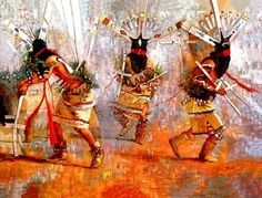 Apache Crown Dancer by Pat McAllister.  Cherokee. Giclee art - pronounced Gee'clay.