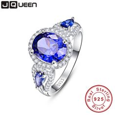 Check current price Wedding Brand Sapphire Ring 925 Solid Sterling Silver Fashion Jewelry new 2016 Unique Design For Women luxury brand With Box just only $15.68 with free shipping worldwide  #finejewelry Plese click on picture to see our special price for you
