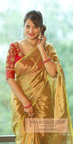 Discover recipes, home ideas, style inspiration and other ideas to try. Golden Saree, Sumo, Plain Saree, Designer Blouse Patterns, Elegant Saree, Saree Look, Saree Dress, Indian Beauty Saree, Saree Styles