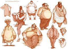 Character designs fat character, character poses, character sketches, c Character Design Cartoon, Character Sketches, Character Design References, Character Drawing, Character Design Inspiration, Fat Character, Animation Character, Art Sketches, Mouth Cartoon