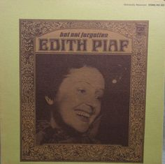 Edith Piaf   But Not Forgotten 1966  LP Album Vinyl