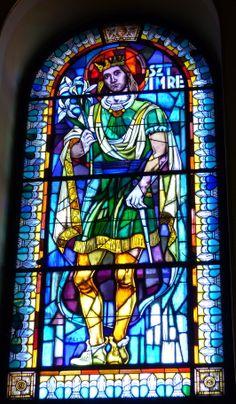 Lovely stain-glass window in St. Stephen's Basilica in Budapest (March 2014) - Photo taken by BradJill