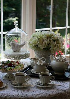 Lovely tea party with bird decor!