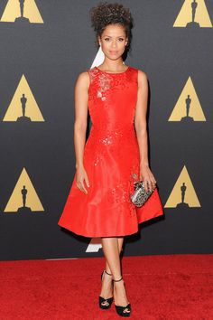 10 Times Gugu Mbatha-Raw's Style Was Absolutely Flawless   - Oscar de la Renta, 2014 - from InStyle.com