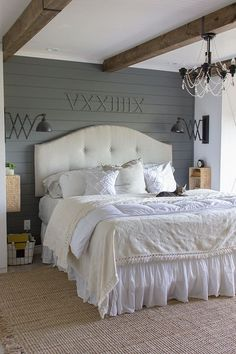 Spring Home Tour - neutral calming bedroom with tons of DIY's on a budget