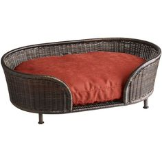 Pier One Coco Cove Dog Bed ($120) ❤ liked on Polyvore