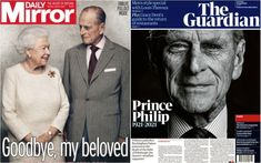 Newspaper Front Pages, Newspaper Cover, Queen Elizabeth Ii Husband, Prins Philip, Grace Dent, Edinburgh, Daily Record, Time Pictures, New York Daily News
