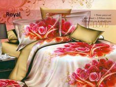 5D Designer Bedsheet    Featuring an attractive floral print all over, this bed sheet set will surely make your bedroom look appealing. Soft to touch and comfortable to sleep on.