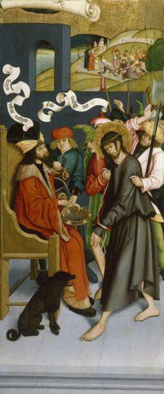 Bernhard Strigel - Pilate Washing His Hands of Guilt for Christ's Death. 1495 - 1500