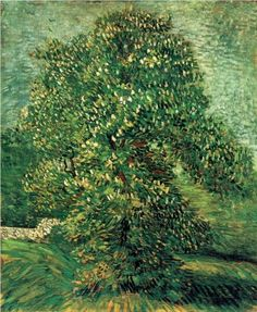 Chestnut Tree in Blossom  - Vincent van Gogh - Beautiful Viridian