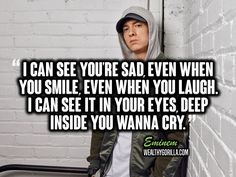 There's no doubt about it, Eminem is a lyrical genius. These are definitely the greatest Eminem quotes and lyrics of all time. Eminem Lyrics, Eminem Quotes, Rap Quotes, Music Lyrics, Music Quotes, Life Quotes, Eminem Tattoo, Song Lyric Tattoos, Song Lyric Quotes