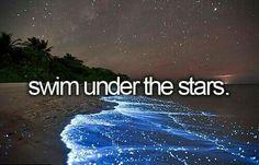 Swim under the stars