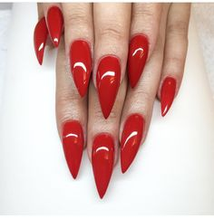 Red claws stiletto