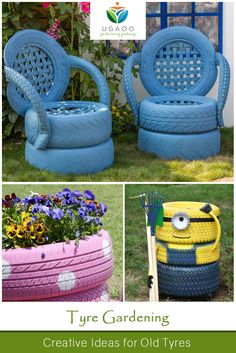 Tyre Gardening: Gardens grown in old tyres look cute and they are cheap too. We offer you some creative ways to reuse old tyres in the garden. So, apply this ways and plant garden in tyres, make a swing and hang it in your garden to surprise and entertain your kids. #creativity #garden #reuse