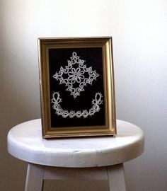Framed Victorian Lace in Frame by SassySisterVintage