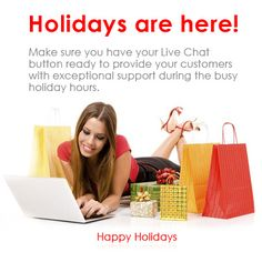 Did you know that you can add Provide Support holiday Live Chat icons on all your websites and just about all your social platform homepages ? including outgoing emails and blogs.  Ask us how !  http://www.providesupport.com/product/chat-icons-winter-en.html