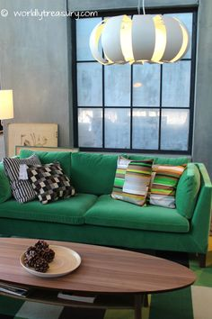 Press Presentation Ikea Stockholm Collection In Amsterdam Sofa And Table Green Velvet