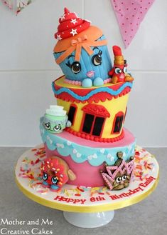 Wonky Shopkins Cake - Cake by Mother and Me Creative Cakes