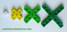 Sucesión geométrica hecha con policubos
