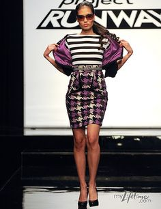 Project Runway's Designer Mondo -- I love how his stuff is enough 80's punky to make me happy!!