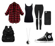 """""Schizo-Freak"": Ayden Harbor Coming Home Outfit"" by haleyjones2004 ❤ liked on Polyvore featuring Topshop, Juvia, Converse, BaubleBar, Sherpani and Monsoon"