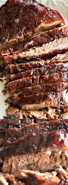This Oven Cooked Barbecue Brisket from The Foodie Affair gets marinated overnight, and then cooked low and slow. It is FULL of flavor and yields a smoky tender flavored meat that your family will really enjoy!