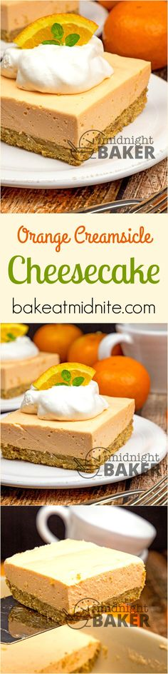 Easy cheesecake dessert bars that taste like the famous orange creamsicle ice cream pops.