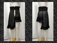 【楽天市場】ゴシック V系 ゴスパンク シフォン アシンメトリー オーバースカート 黒:PARROT