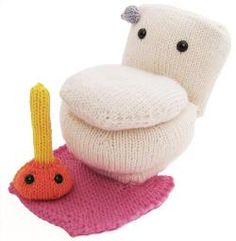 Who knew a toilet could be so cute? Love this quirky knitting pattern.