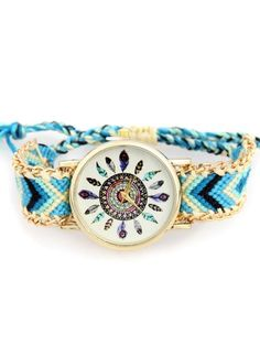 SHARE & Get it FREE   Geometric Feather Pattern Woven Watch - Water BlueFor Fashion Lovers only:80,000+ Items • New Arrivals Daily Join Zaful: Get YOUR $50 NOW!