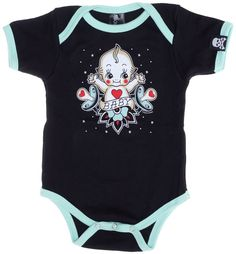 SOURPUSS BABY KEWPIE ONE PIECE $21.00 #sourpuss #sourpussclothing #baby #babygifts #kewpie