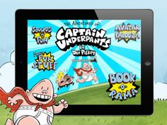 Captain Underpants app | One of the best books for kids, now one of the best reading apps for kids