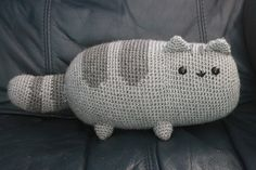 free Ravelry: Pusheen the cat crochet pillow!