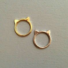 Les Fleurs, boutique en ligne Plus\\. Cute Jewelry, Gold Jewelry, Jewelry Accessories, Jewelry Design, Cat Ring, Ring Verlobung, Fashion Rings, Fashion Jewelry, Accesorios Casual