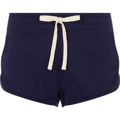 Accessorize Jersey Shorts (€25) ❤ liked on Polyvore featuring shorts, bottoms, pajamas, pants, navy, navy shorts, navy jersey, relaxed fit shorts, lacy shorts and lace shorts