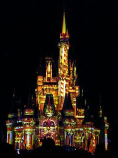 Disney's Cinderella Castle turns into candy during the holiday segment of The Magic, The Memories, and You. Photo by Mark Goldhaber.