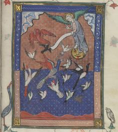So... are angels birds? Apocalypse de S. Jean, en français. (BnF, Français 13096, f.70r)