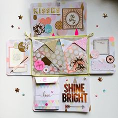 Outgoing flipbook inspired by using capsule collection Snail Mail Gifts, Snail Mail Pen Pals, Wedding Scrapbook, Mini Scrapbook Albums, Scrapbook Cards, Snail Mail Flipbook, Book Crafts, Paper Crafts, Fun Mail