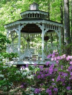 Garden Gazebo home outdoors flowers pretty garden ideas gazebo