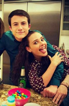 Dylan Minnette + Katherine Langford bts (Clay + Hannah)
