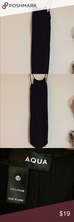 Aqua black midi dress with gold embellishments Very good condition. Minimal fading. Aqua Dresses Midi