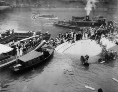 Film clips have surfaced of a 1915 disaster that left 844 people dead when a ship headed to a company picnic capsized in the Chicago River.