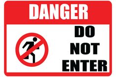 Printable Do Not Enter Sign Red Black PDF Download Free