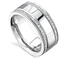 This men's diamond wedding band is luxurious and captivating with 2-rows of shinning diamonds. This is a great ring to have forever. http://www.novori.com/mens-diamond-wedding-rings-12470R2-q.html