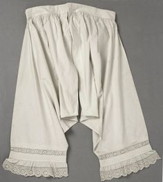 1860s Broderie Anglaise drawers. Met Museum.
