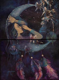 Dream Catcher by Dorina Costras- this appeals to the Cherokee Indian in me. It is so beautiful!